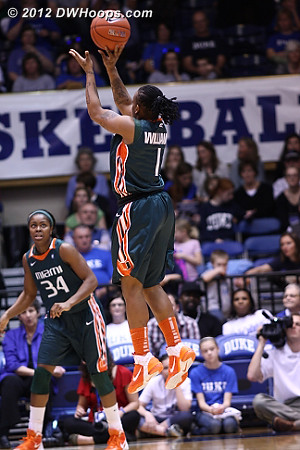 This bomb would have made it 10-2 Miami, but it didn't fall  - MIA Players: #1 Riquna Williams