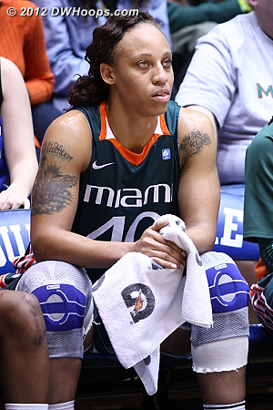 Miami went small after Wilson committed three turnovers and a foul in the first four minutes  - MIA Players: #40 Shawnice Wilson