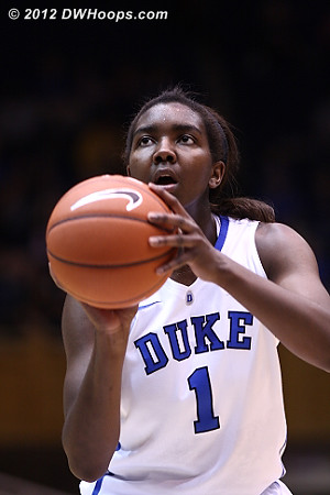 Free throw makes it 15-9 Duke  - Duke Tags: #1 Elizabeth Williams