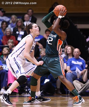 DWHoops Photo  - Duke Tags: #33 Haley Peters - MIA Players: #42 Shenise Johnson