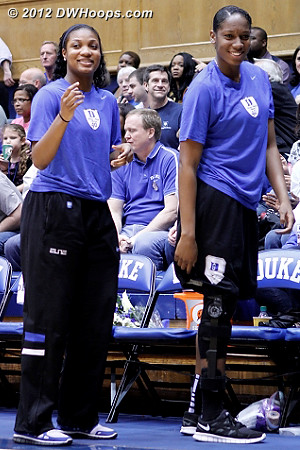 Duke's walking wounded will be back next season  - Duke Tags: #15 Richa Jackson, #30 Amber Henson
