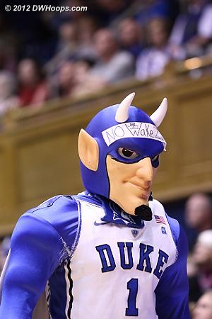 The Duke Blue Devil mascot