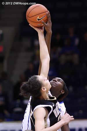 Opening tip  - Duke Tags: #1 Elizabeth Williams - WAKE Players: #25 Dearica Hamby