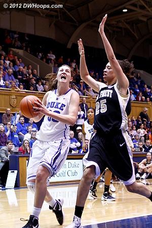 DWHoops Photo  - Duke Tags: #33 Haley Peters - WAKE Players: #25 Dearica Hamby