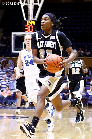 Ray leads a Wake fast break  - WAKE Players: #23 Secily Ray