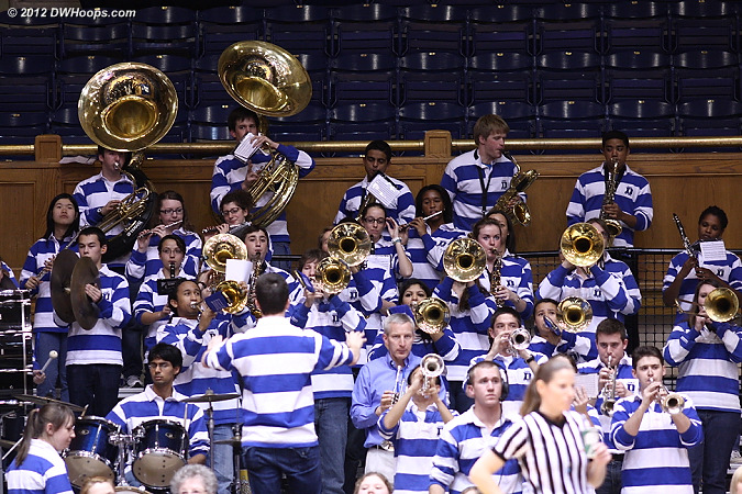 Duke Pep Band played a spirited rendition of