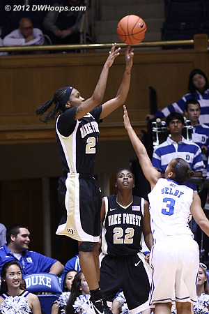 Secily Ray shot 3-7 but contributed more defensively: 12 rebounds, 3 blocks, and 3 steals  - WAKE Players: #23 Secily Ray