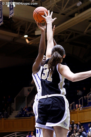 Good defense by Wright  - WAKE Players: #31 Lindsy Wright