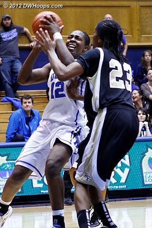 DWHoops Photo  - Duke Tags: #12 Chelsea Gray - WAKE Players: #23 Secily Ray