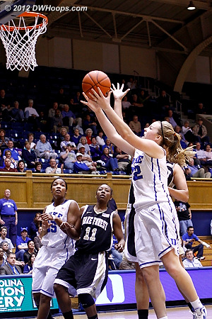 Tricia scores off her steal to make it 66-36  - Duke Tags: #32 Tricia Liston