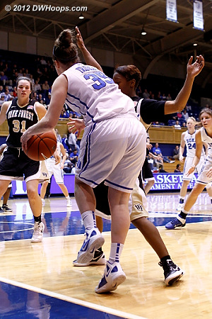 Frush draws a foul and would go to the line  - WAKE Players: #1 Brooke Thomas