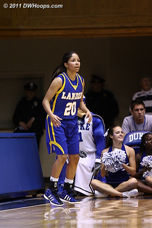 After already having made 7 of 9 threes, why is Jasmine Judge still wide open behind the arc?