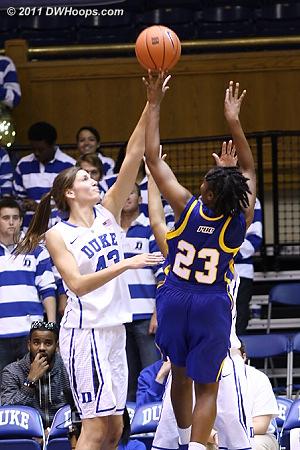 Good defense by Vernerey on Janyce Ealey  - Duke Tags: #43 Allison Vernerey