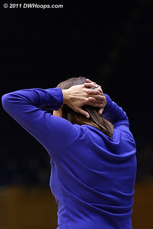 The frustration of Coach P as Judge has gone 8-10 from behind the arc.  - Duke Tags: Joanne P. McCallie