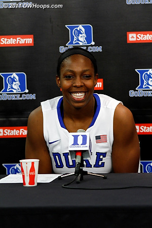 Chelsea Gray in the post-game press conference.