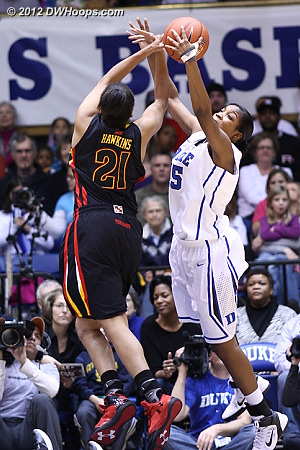 Richa Jackson and Tianna Hawkins battle for the ball  - Duke Tags: #15 Richa Jackson