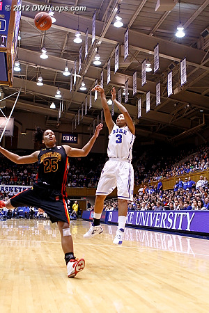 Shay Selby fires a jump shot over Alyssa Thomas