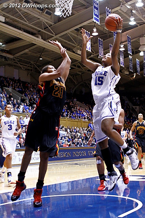 Richa would get the hoop and harm to give Duke their first two possession lead of the afternoon  - Duke Tags: #15 Richa Jackson