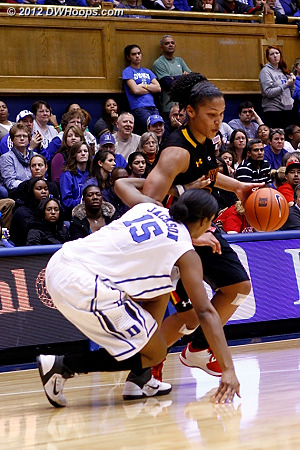 Richa Jackson fouls Alyssa Thomas  - Duke Tags: #15 Richa Jackson
