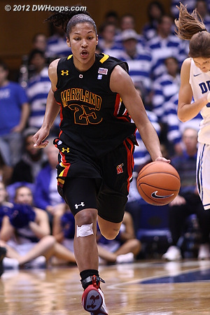 Alyssa Thomas, thought by many at this point as leader for ACC Player of the Year, leads another Maryland fast break