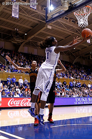 This layup by Elizabeth Williams came from too deep