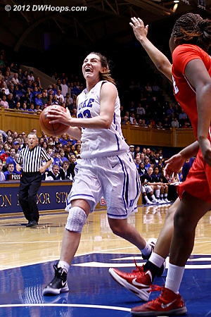 Haley Peters went coast-to-coast to extend Duke's lead to six