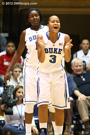 Shay Selby pleased after a Duke defensive stop