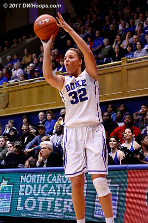 Tricia Liston notched 19 points, shooting a blistering 5-6 from behind the arc  - Duke Tags: #32 Tricia Liston