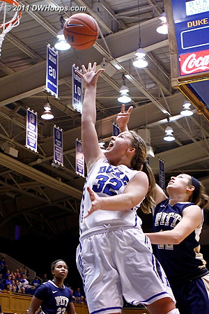 Liston (from Gray) makes it 15-3 Duke and it's time for Pitt's second time out  - Duke Tags: #32 Tricia Liston