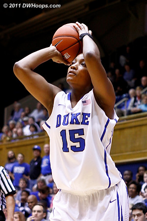 Richa Jackson takes a jump shot  - Duke Tags: #15 Richa Jackson