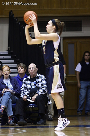 Abby Dowd was a bright spot for Pitt, 3-5 from long range.