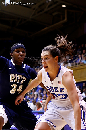 Peters drives on Golden (34)  - Duke Tags: #33 Haley Peters