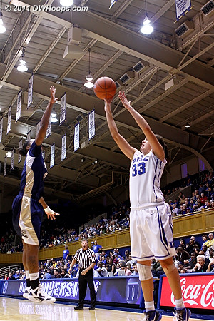 Peters hits off a Gray inbounds pass  - Duke Tags: #33 Haley Peters