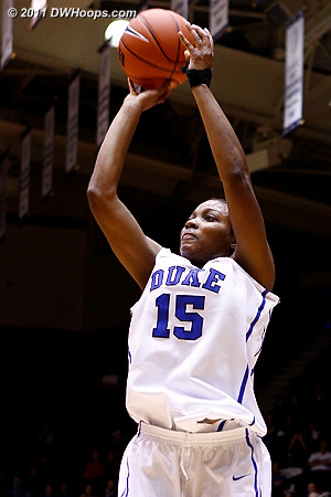 Richa had a fine afternoon, 12 points on 5-9 shooting plus four steals and two assists  - Duke Tags: #15 Richa Jackson