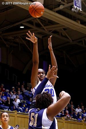 Henson jump shot  - Duke Tags: #30 Amber Henson