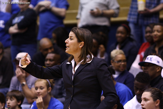 Joanne P. McCallie directs the Duke offense