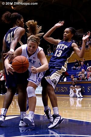Tricia Liston is fouled  - Duke Tags: #32 Tricia Liston