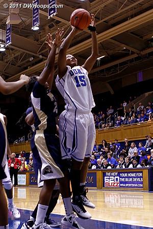 Richa kept attacking the basket  - Duke Tags: #15 Richa Jackson