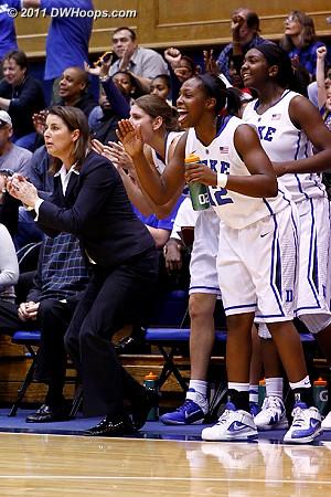 Duke bench  - Duke Tags: #1 Elizabeth Williams, #12 Chelsea Gray, Joanne P. McCallie