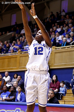 Chelsea Gray opened the scoring for Duke by sinking her first shot, a trey  - Duke Tags: #12 Chelsea Gray