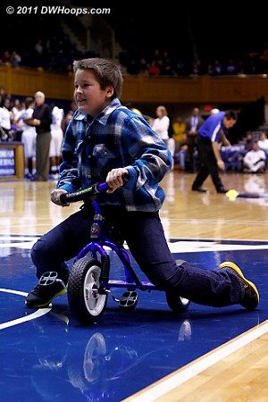 OK, it's only December and we're already pretty tired of the kid too tall to ride a tricycle time out.  - Duke Tags: Fans
