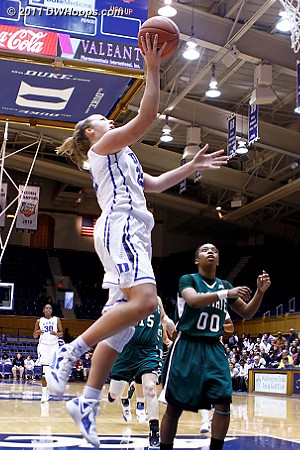 Liston scores in transition  - Duke Tags: #32 Tricia Liston