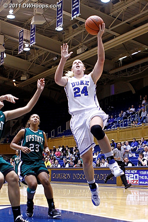Scheer scores in transition, her second straight double digit scoring game in Cameron  - Duke Tags: #24 Kathleen Scheer
