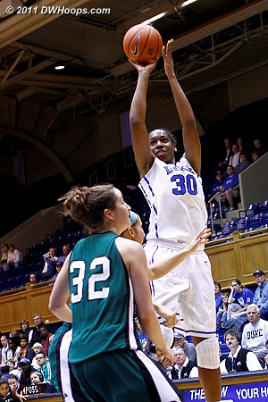 Amber Henson tries another jumper  - Duke Tags: #30 Amber Henson