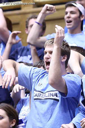 Carolina also had a number of students present  - Duke Tags: Fans