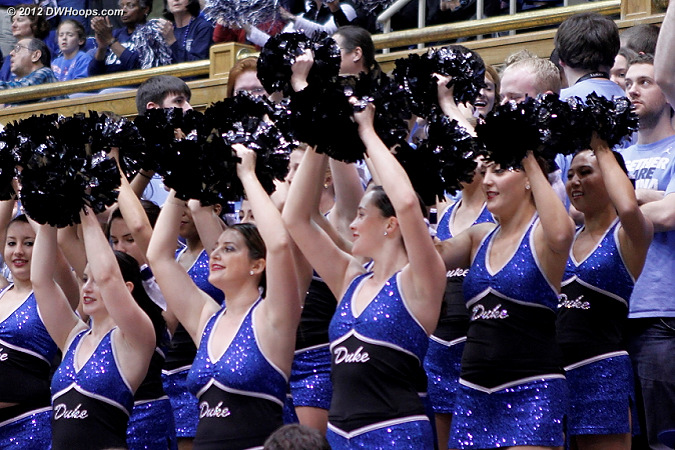 Putting the Dancing Devils in front of the Carolina students was a clever idea!  - Duke Tags: Fans