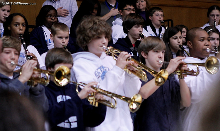 National Anthem was played by the Githens Middle School Band  - Duke Tags: Fans