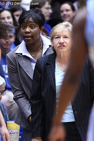DWHoops Photo  - UNC Players: Head Coach Sylvia Hatchell, Assistant Coach Trisha Stafford-Odom