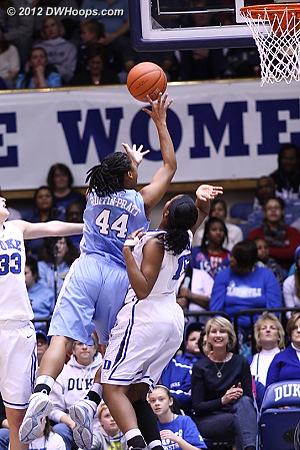 Ruffin-Pratt was persistent, sticking back her second consecutive miss, 8-4 Heels  - UNC Players: #44 Tierra Ruffin-Pratt