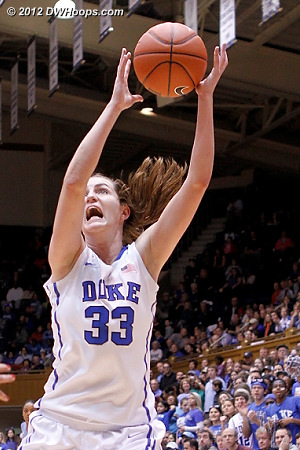 Haley Peters seizes the basketball  - Duke Tags: #33 Haley Peters